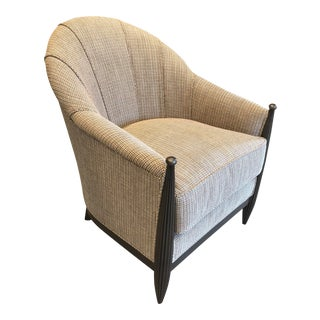 Transitional Scalamandre Fabric Upholstered Club Chair For Sale