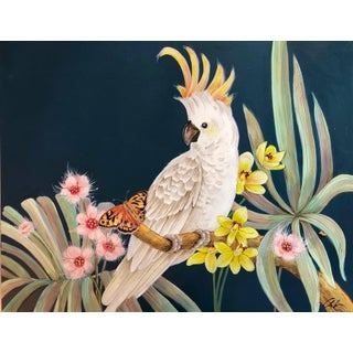 "Allison Cosmos ""Cockatoo Party"" Painting For Sale"