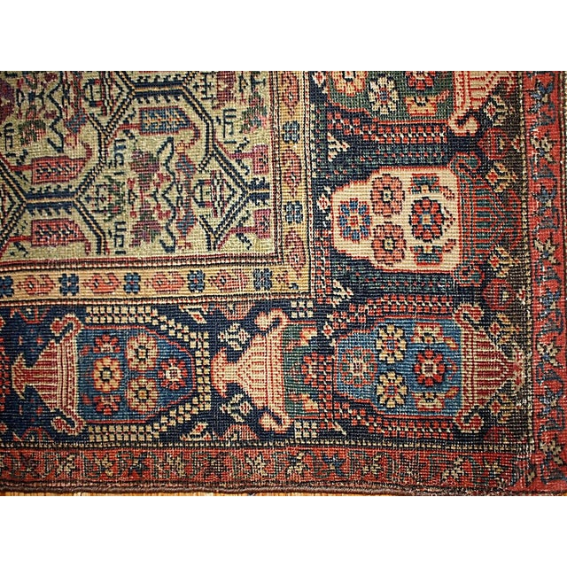 1860s Hand Made Antique Persian Farahan Rug - 4′3″ × 6′4″ For Sale - Image 4 of 5