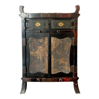 Japanese Traveling Cabinet Oi Edo Period For Sale