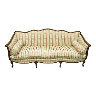 Early 20th C. Vintage French Louis XV Provincial Style Sofa For Sale