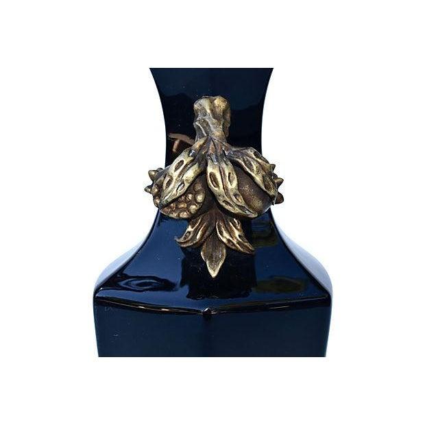 Bronze Antique Chinese Porcelain & Bronze Vase For Sale - Image 7 of 8