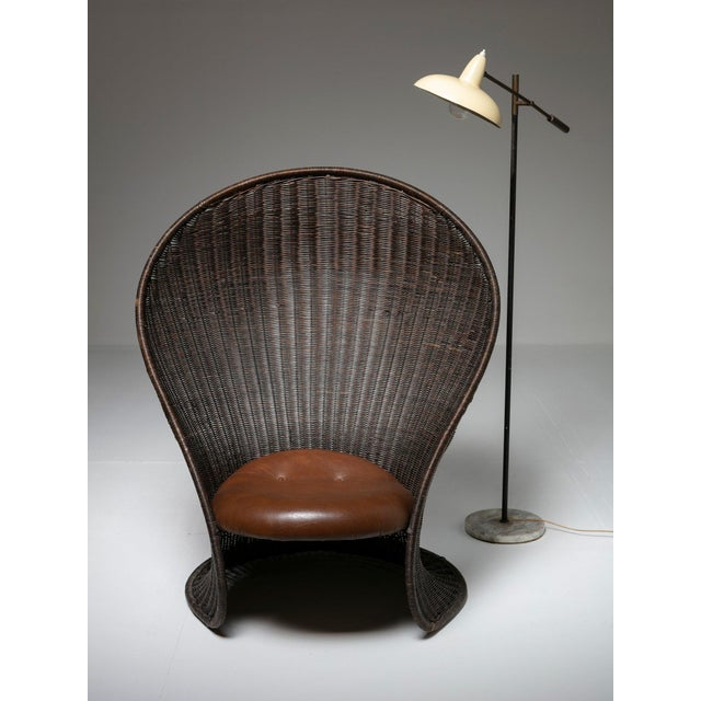Animal Skin Foglia Lounge Chair by Travasa for Bonacina For Sale - Image 7 of 8