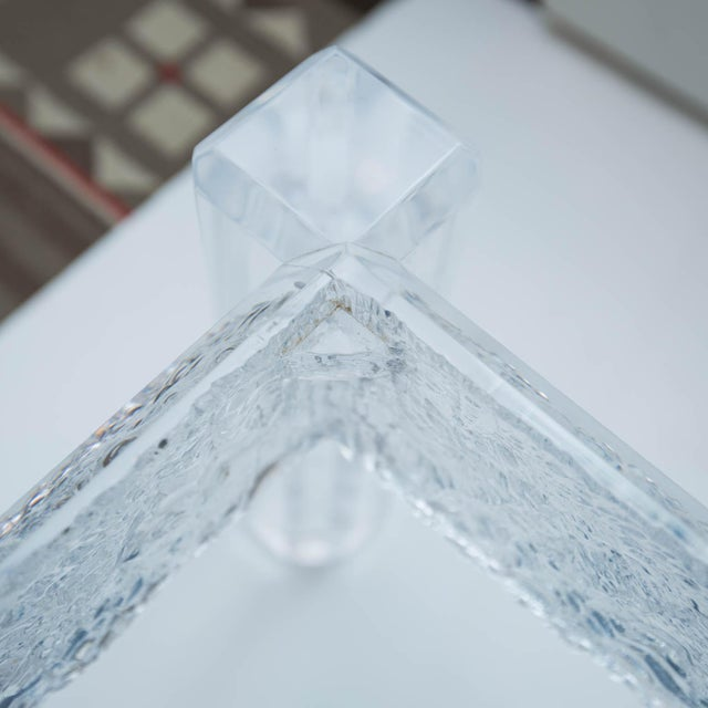 Large Custom Lucite Coffee Table Base For Sale - Image 9 of 9