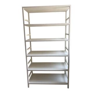 White Linen Bookcase For Sale