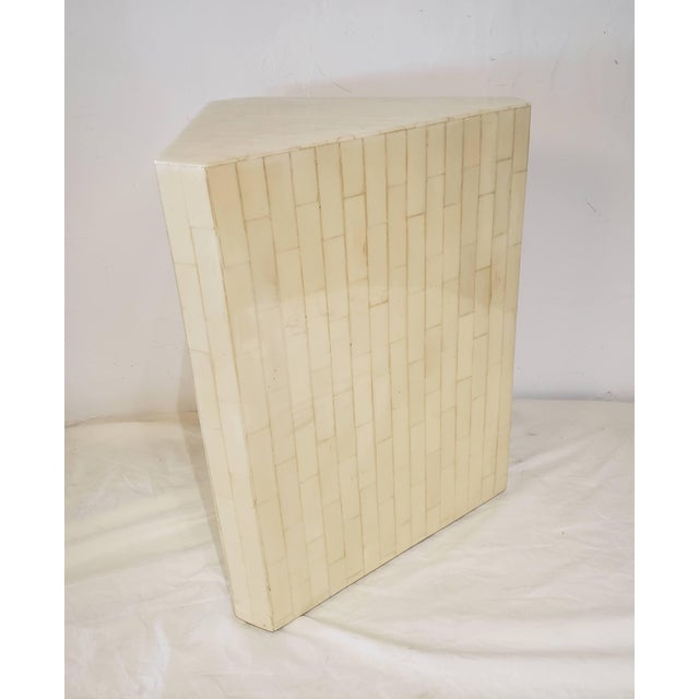 Art Deco Vintage Bone Inlay Pedestal For Sale - Image 3 of 6