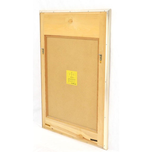 La Barge La Barge Reverse Painted Gold Leaf Rectangular Frame Decorative Mirror For Sale - Image 4 of 13