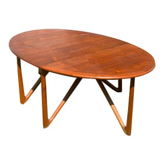 20th Century Mid Century Danish Drop Leaf Dining Table For Sale