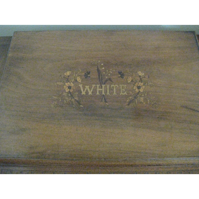 Cast Iron Cabinet With Original Sewing Machine For Sale - Image 7 of 10