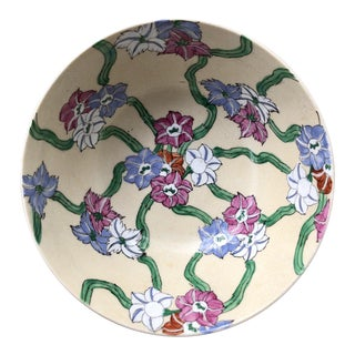 Chinese Floral Chintz Hand Painted Catchall Bowl For Sale
