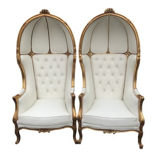 French Throne Balloon Chairs- a Pair For Sale