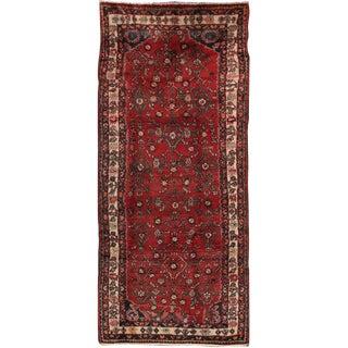 """Vintage Hamadan Wool Area Rug - 3'8"""" X 8'6"""" For Sale"""