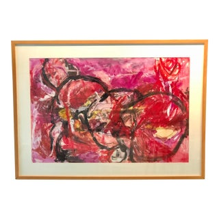 """Large Abstract Nude """" Woman's Wattage"""" by Ellen Reinkraut For Sale"""
