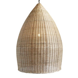 Raw Wicker Pod Lantern XL For Sale