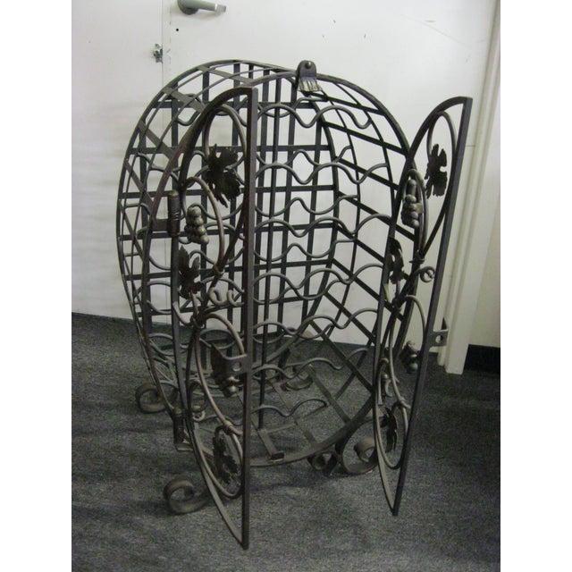 Custom Wrought Iron 24-Bottle Wine Cage - Image 3 of 10