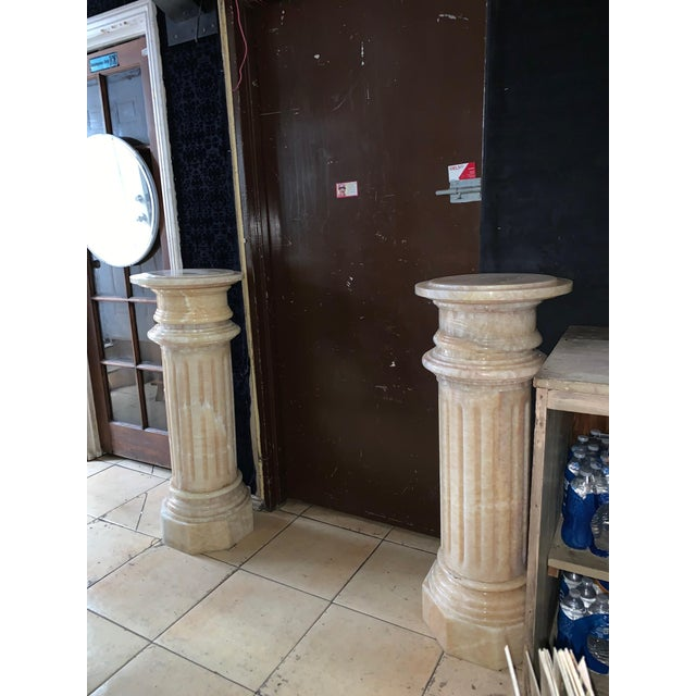 1920s Tuscany Pink Marble Pedestals - a Pair For Sale - Image 11 of 13
