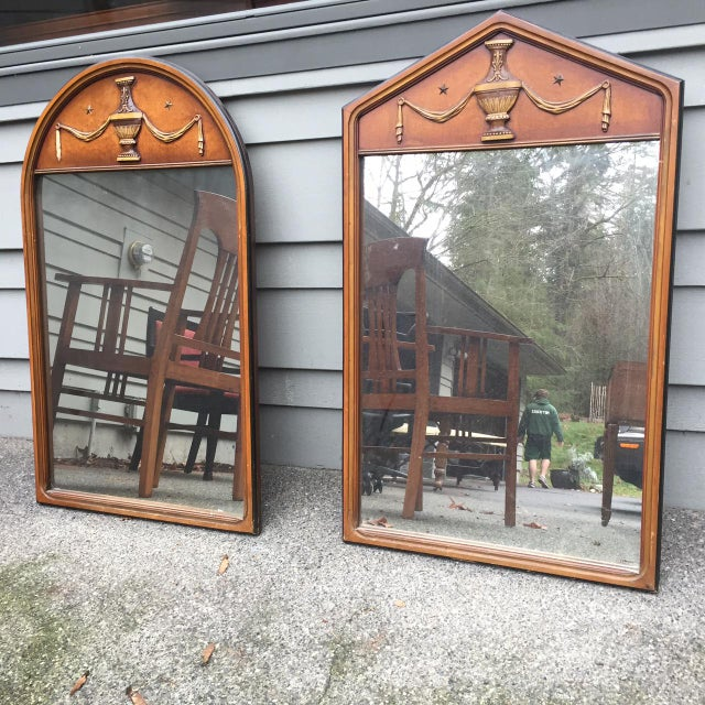Vintage Wooden Mirrors - A Pair - Image 2 of 5