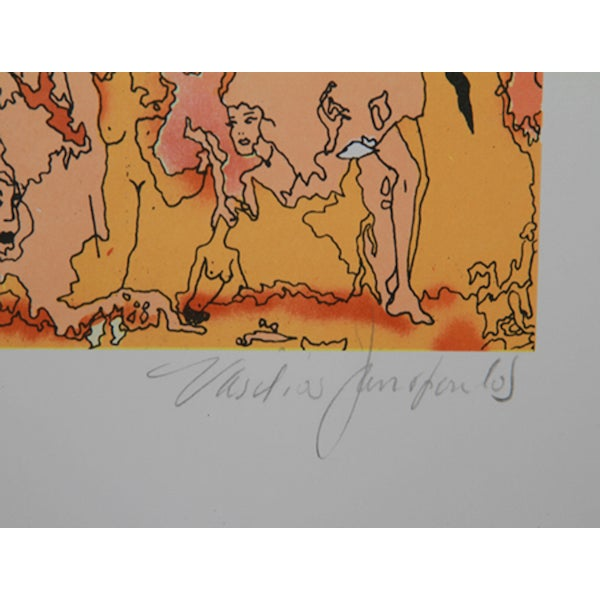 """V. Janopoulos, """"Psychedelic Abstract,"""" Lithograph - Image 2 of 2"""