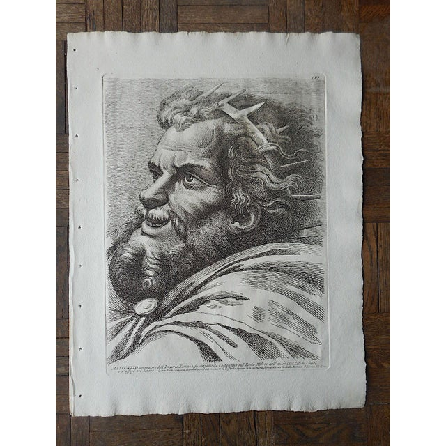 Extremely Fine Large Antique Etching By Paolo Fidanza-Italy c.1700 - Image 2 of 3