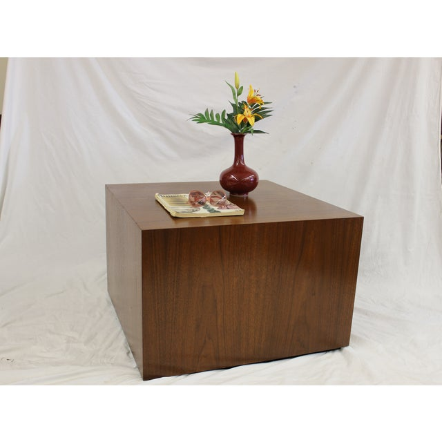 Milo Baughman Style Cube Coffee Table - Image 7 of 7