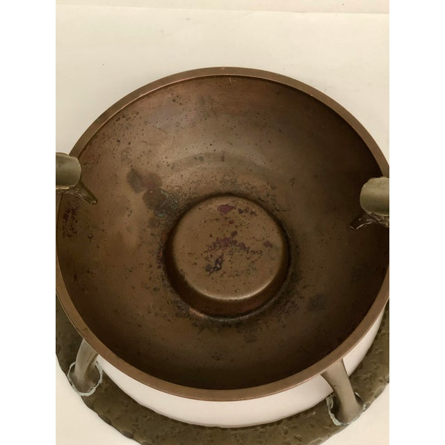 Oscar B Bach Art Deco Copper/Brass Ashtray, New York, Circa 1925 For Sale - Image 9 of 11