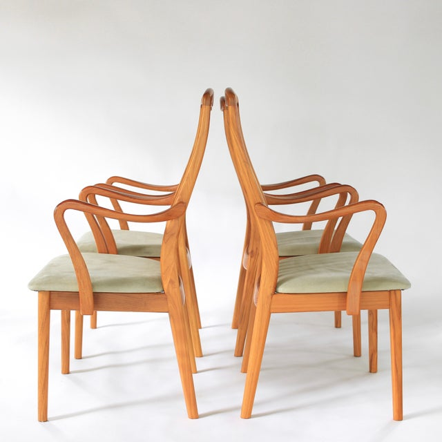 Schou Andersen Møbelfabrik 1960s Mid Century Modern Schou Andersen Teak Dining Chairs - Set of 2 For Sale - Image 4 of 9
