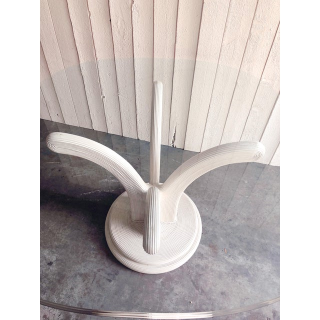 Art Deco Pencil Reed Dining Table Base in the Style of Gabriella Crespi For Sale - Image 3 of 7