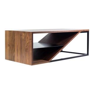 Cortado, Modern Walnut and Steel Coffee Table