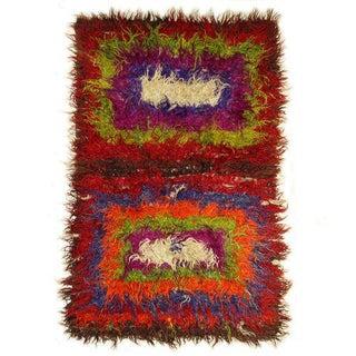 "Vintage Angora Tulu Carpet - 4'2"" X 6'4"""