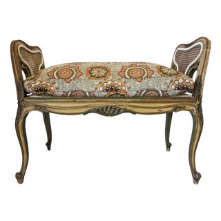 19th Century French Louis XV Carved Piano Bench For Sale