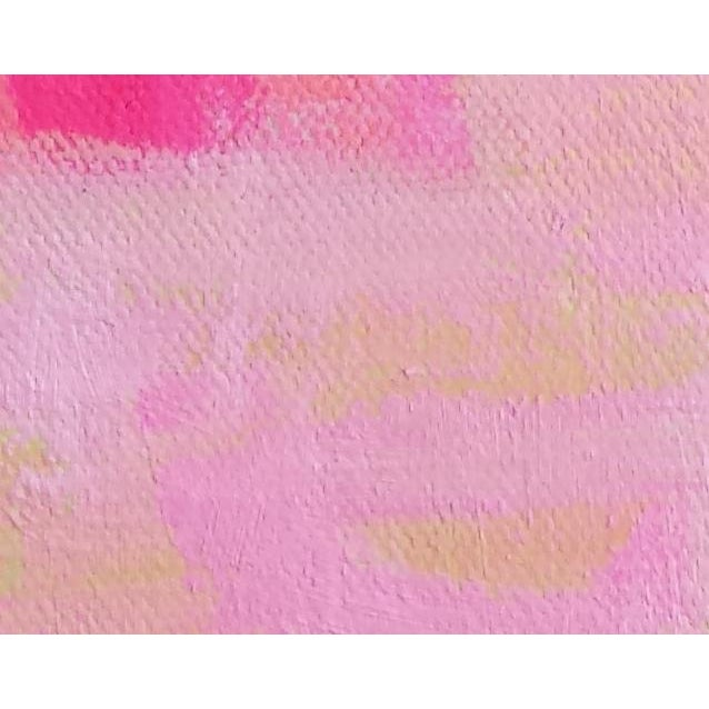 """Susie Kate """"Spring Pink"""" Abstract Painting - Image 3 of 3"""
