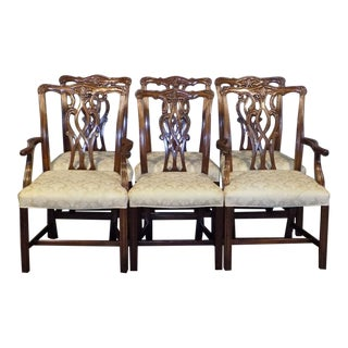 Chippendale Hickory Manufacturing Mahogany Dining Chairs - Set of 6 For Sale
