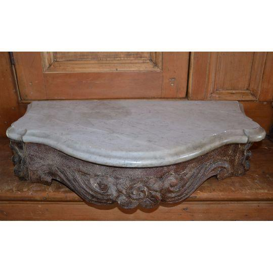 Marble Topped Wall Consoles - Pair - Image 2 of 6