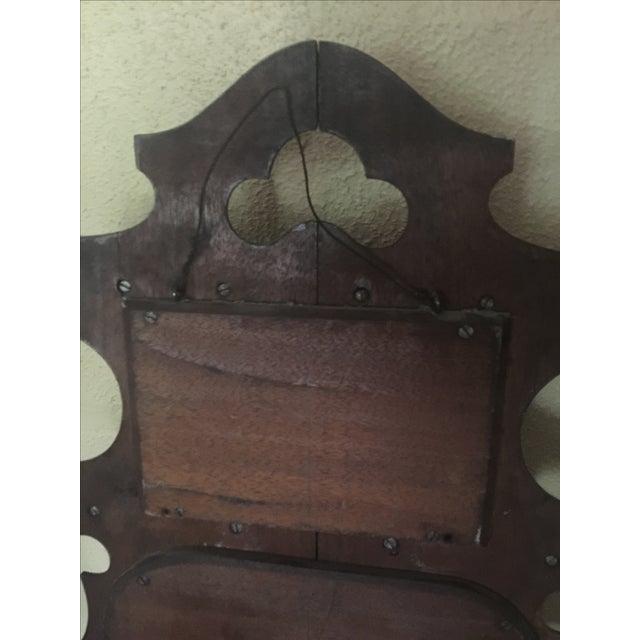 Antique Masonic Freemasonry Wood Shelf - Image 10 of 11