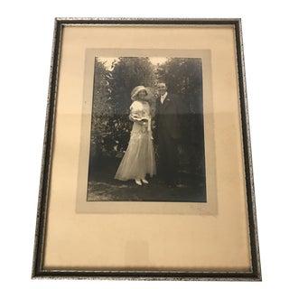 1930's Framed Wedding Portrait For Sale
