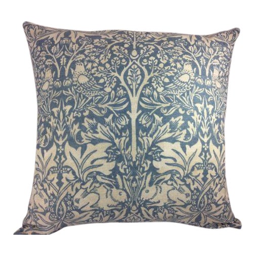 "William Morris William Morris ""Brer Rabbit"" in Duck Egg Blue & Off-White Pillow Covers - a Pair For Sale - Image 4 of 4"