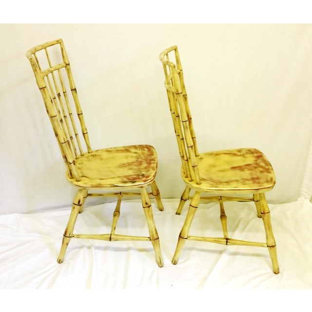 Painted Birdcage Windsor Chairs - A Pair - Image 9 of 11