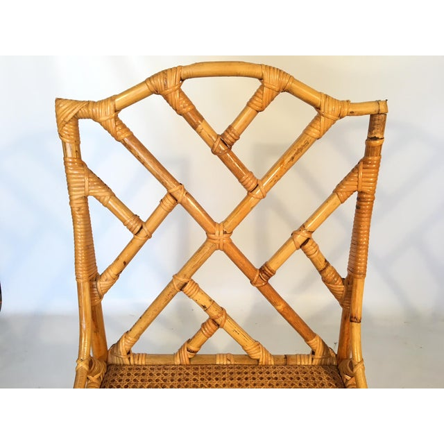 Bamboo Chinese Chippendale Cane Seat Dining Chairs - Set of 10 - Image 10 of 13