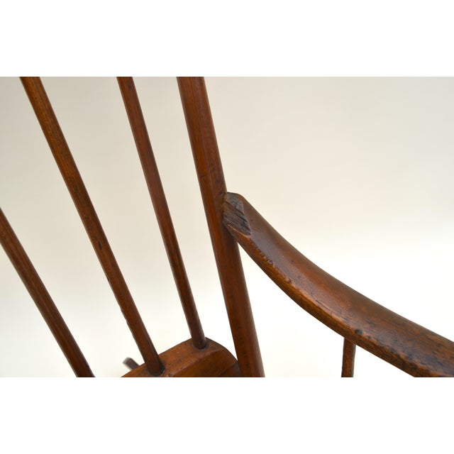 Antique Primitive Boston Rocking Chair C.1840s For Sale - Image 9 of 11
