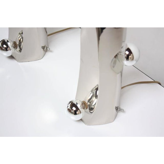 Mid-Century Modern Polished Chrome Free-Form Table Lamps - Image 10 of 11