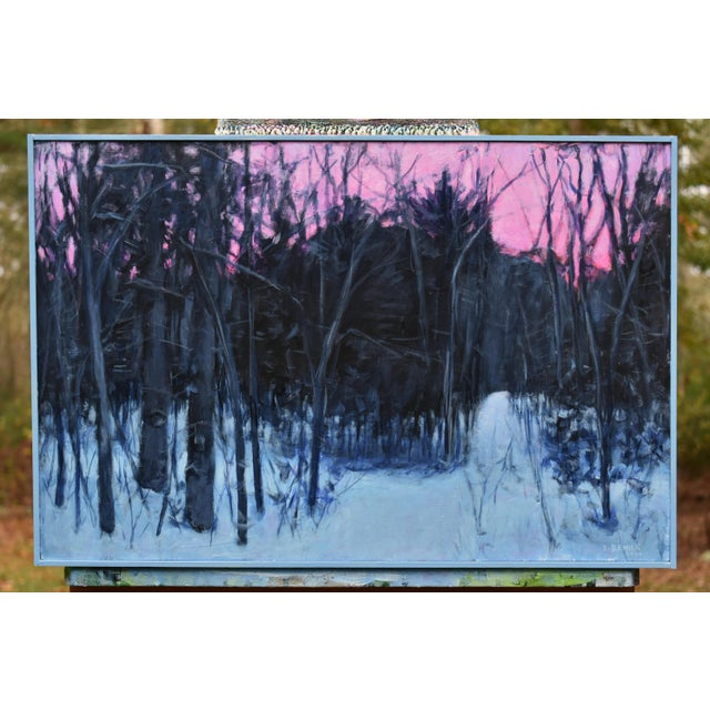 """""""Snowy Intersection at Dawn"""" Contemporary Acrylic Painting by Stephen Remick, Framed For Sale - Image 12 of 12"""