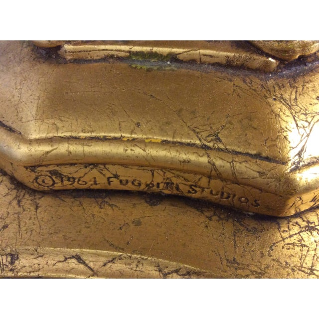 Fuggiti Studios Italian Carrara Marble & Gold Gilt Coffee Table - Image 8 of 11