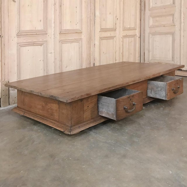 World Class 19th Century Country French Rustic Coffee Table Decaso