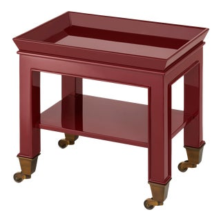 Miles Redd Collection Telephone Table in Garnet Red For Sale