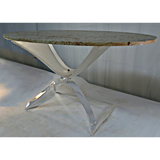 Lucite & Marble Coffee Table - Image 3 of 8