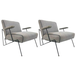 Pair Wrought Iron Lounge Chairs by Maurizio Tempestini for Salterini For Sale