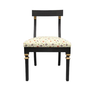 Late 20th Century Vintage Floral Print Upholstered Chair For Sale