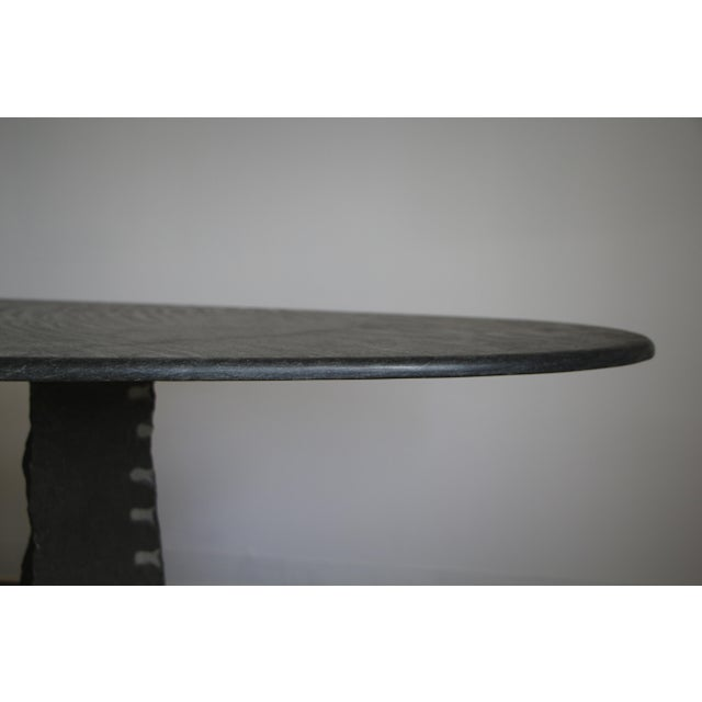 1970s Mario Bellini Style Italian Slate Dining Table For Sale In San Diego - Image 6 of 13