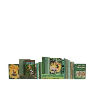Summer Reading for Kids in Green : Set of Twenty Five Decorative Books For Sale