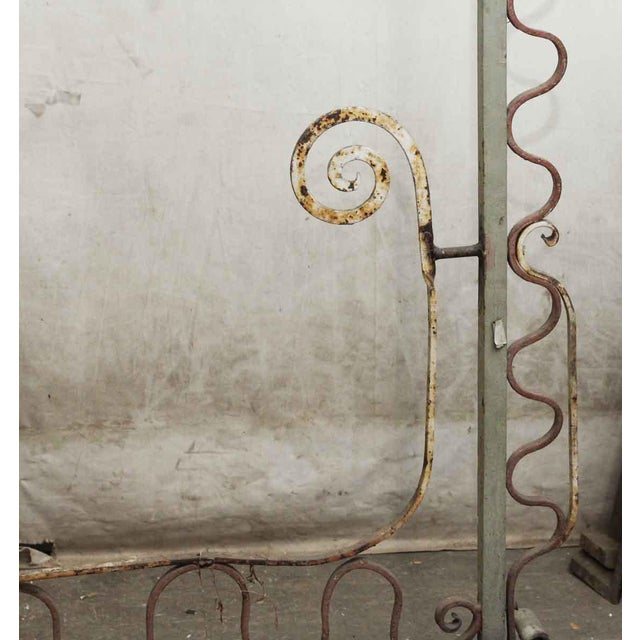 20th Century Traditional Wrought Iron Fire Place Screen For Sale - Image 9 of 10